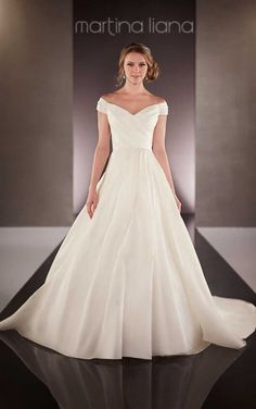712 Designer Wedding Dress with Straps by Martina Liana