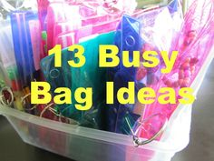 Pinning with Purpose: Busy Bags