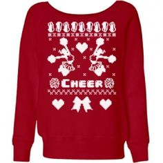 Cheer Sweater Misses Relaxed Fit Bella Triblend Slouchy Wideneck Sweatshirt Cheer Captain, Cheerleading Gifts, Sweater Design, Ugly Christmas Sweater, Hoodies, Sweatshirts, Cheer Stuff, T Shirt, Shopping