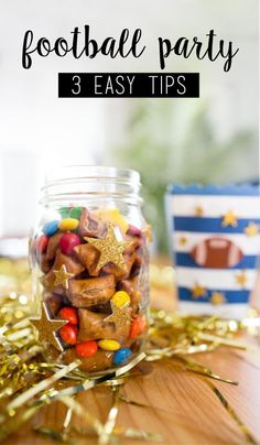 Who wouldn't love this touchdown-worthy game day menu featuring this festive M&M'S® Game Day Mix? We sure can't think of anyone! Plus, once you check out these 3 easy tips for throwing the best football party using M&M'S® Game Day Mix, you'll give all your tailgating celebrations an adorable presentation inspired by these sweet and salty recipe ideas. Find everything you need to make your own colorful treat at CVS.