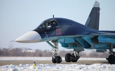 Sukhoi Su-34 Fighter Bomber Taxiing