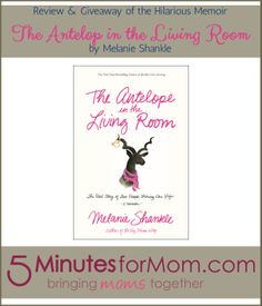 #Review & #giveaway of the new memoir The Antelope in the Living Room by Big Mama Melanie Shankle.http://www.5minutesformom.com/86304/antelope-living-room-melanie-shankle/#comment-2213362