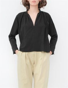 Apiece Apart Shirred Georgia Top- Black