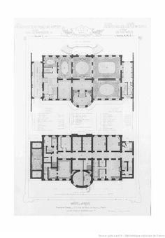 Vintage House Plans, Chateaus, Architecture, Floor Plans, Paris, How To Plan, Design, Architecture Blueprints, Home Layouts