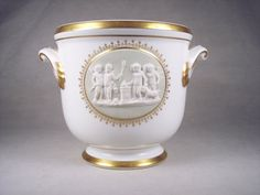 Vista Alegre Porcelain Cachepot Flower Pot by SnapshotsThroughTime