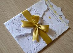 Tutorial - Convite de papel rendado 16