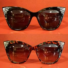 Spiderweb cateye sunglasses