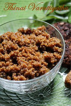 YUMMY TUMMY: Thinai Varattiyathu Recipe / Sweet Millet Recipe - Foxtail Millet Recipes