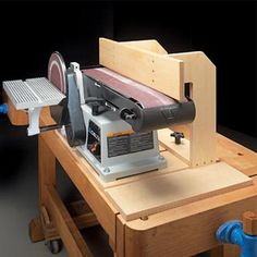 Great shop build mod for a bench combo sander.