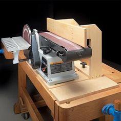 Woodworking Tips Belt Sander Upgrade Woodworking Jigsaw, Learn Woodworking, Woodworking Workshop, Woodworking Bench, Woodworking Crafts, Woodworking Skills, Woodworking Techniques, Woodworking Patterns, Popular Woodworking