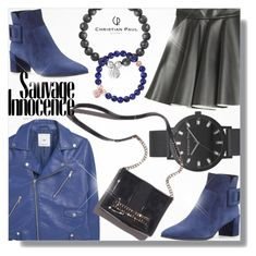 """""""Christian Paul"""" by jiabao-krohn ❤ liked on Polyvore featuring MANGO, MSGM, Roger Vivier and christianpaul"""