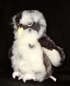 "New With Tags GUND Hooten Snowy Owl Retired #12025 8"" Stuffed Animal Plushie"