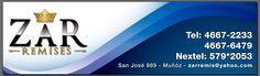 """Carteleria Front y logotipo realizada para remises """"ZAR"""""""