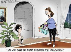 Charlie Sheen for Halloween