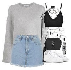 """""""Untitled #1912"""" by sophiasstyle ❤ liked on Polyvore featuring T By Alexander Wang, Topshop, Michael Kors, Yves Saint Laurent, adidas, For Love & Lemons and Burberry"""