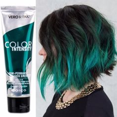 St Patricks Day Green - Get gorgeous green hair with Joico Color Intense Peacock Green!