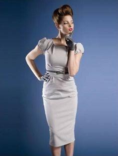 """Classic """"Ashley"""" Modest Dresses in Dove Gray LOVELOVELOVEIT!"""