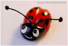 gum paste ladybug