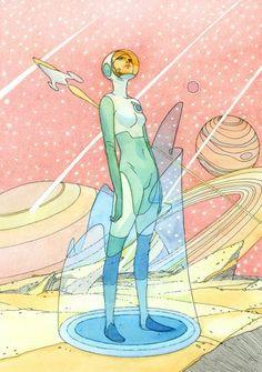 drawings by jean giraud aka moebius / ♡ cybertwee ♡ Arte Sci Fi, Sci Fi Art, Jean Giraud, Science Fiction, Illustrations, Illustration Art, Character Inspiration, Character Art, Character Aesthetic