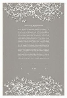 Papercut Ketubah - Branches