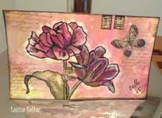 Follow me on my Art Journey: Every day an indexcard # June , 24 and 25 Tulips