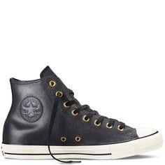 5a7d0ae04a3eff Converse - Chuck Taylor All Star Vintage Leather -Black - High Top Converse  Chuck Taylor