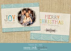 The JOY TO THE WORLD custom Christmas photo card is a two-sided, 5x7 digital template designed using WHCCs flat 5x7 greeting card template. The