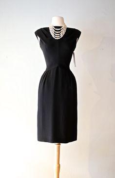 Vintage 1960s Audrey Hepburn Dress ~ Vintage 60s Little Black Dress ~ Sexy 1960s Black Cocktail Dress by xtabayvintage on Etsy