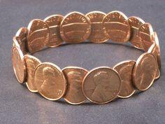 Vintage Copper Bracelet 1973 Penny Jewelry by GarageSaleGlass, $34.99