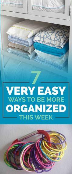 당신은 실제로 시도 할 것이다 7 쉬운 조직 아이디어