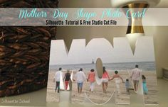 Love this idea that you can add a photo to a shaped card - pretty easy too with Silhouette CAMEO