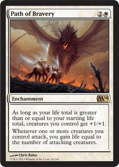 Magic: the Gathering - Path of Bravery (26/249) - Magic 2014 briljant for my life gain deck