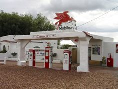 Vintage Mobil Gas Station, Ellensburg, Washington totally remember getting gas here when I was like 5 years old with my Step Father,