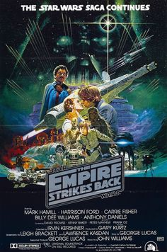 """The Empire Strikes Back"" movie poster art"