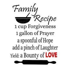 SVG - Family Recipe - Digital Vector Download Great Family Recipe Design perfect for Kitchen Towels, Aprons, Art frames, Cards, Scrapbook layouts, Kitchen Signs, Pallet Signs and so much more  Other Kitchen Designs: http://etsy.me/2kTa3bK  This Design does not contain editable Text. All text sections are unioned as one piece for compatibility across software platforms.  This Listing includes: 1 SVG, 1 DXF 1 EPS & 1 PNG  For use with Cricut Explore and Silhouette cutting mac...