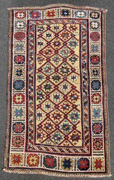 Caucasian Kazak rug, 1860