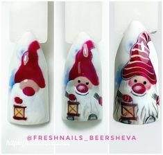 Xmas Nail Art, Cute Christmas Nails, Christmas Nail Art Designs, Xmas Nails, Holiday Nails, Cute Nail Art Designs, Toe Nail Designs, Simple Nail Designs, Snow Nails