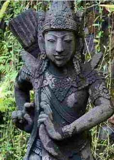 A statue in the gardens of the Ayung Resort,  Bali, Indonesia.