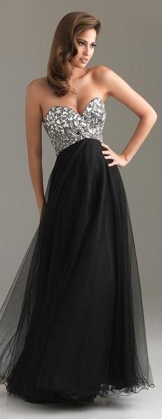 Vestidos de formatura pretos e prata - http://vestidododia.com.br/vestidos-de-festa/vestidos-de-formatura-pretos/