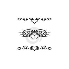 Tribal tattoos Vector ❤ liked on Polyvore featuring accessories, body art and tattoos