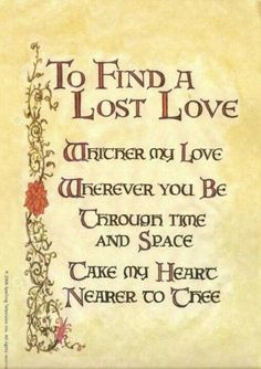 To Find a Lost Love
