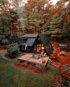 A Frame House Plans, A Frame Cabin, A Frame Homes, Cabin In The Woods, Forest House, Forest Cabin, Cabins And Cottages, Cozy Cabin, Cabin Tent