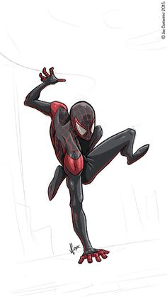 Ultimate Spider-man Into The Spider-Verse Miles Morales Comic Book Characters, Marvel Characters, Comic Character, Comic Books Art, Character Design, Black Spiderman, Spiderman Art, Amazing Spiderman, Marvel Art