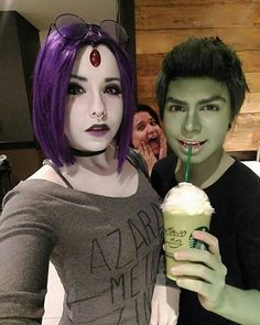 Raven and beast boy cosplay I love this so much