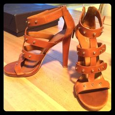 Gucci Sigourney Leather Studded Sandals Amazing pair of strappy sandals in like-new condition. Size 40 (10) but run small so fit more like a 9. Cleaning out my closet due to move. Gucci Shoes Sandals