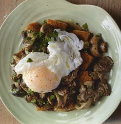 RECIPE: Mushroom Ragout with Poached Duck Egg