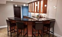 Awesome Basement Remodel Decorating Ideas: Awesome Small Corner Kitchen Design Foxgate Basement Renovation