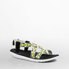 Women's Terra-Float Livia in Lime/White. Fusing street-ready style and innovative comfort, this super light, flattering sandal is part of our Float-Lite collection. Strap in and go places.
