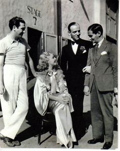 Hermes Pan, Ginger Rogers, Fred Astaire and Irving Berlin.....Uploaded By www.1stand2ndtimearound.etsy.com
