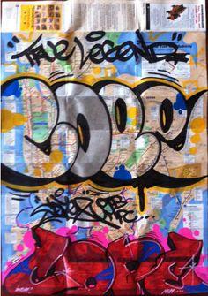 Gallery of James Bee — Cope 2 New York City Train Map Graffiti Art, Graffiti History, Graffiti Words, Graffiti Tagging, Graffiti Designs, Nyc Subway Map, Train Map, Spray Can Art, Art Gallery